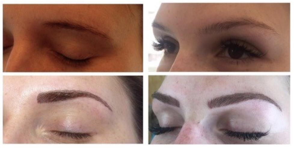 Semi-permanent eyebrows